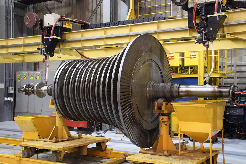 Turbine Undergoing Maintenance