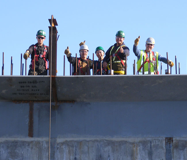 Lorneville Tradespeople Giving Thumbs Up