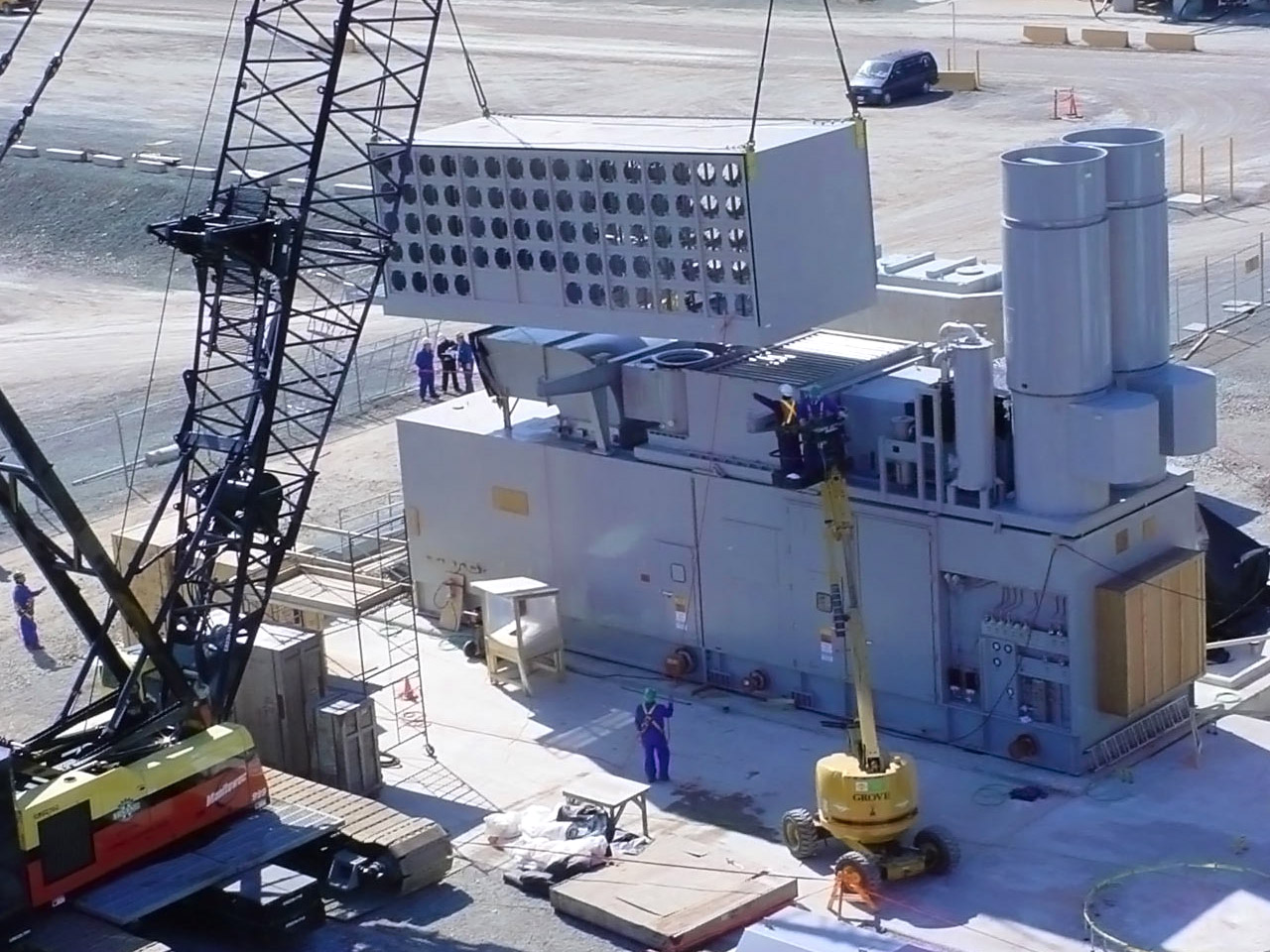 Lowering Piece on Construction Project