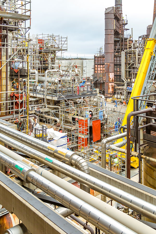Tradespeople Working During Irving Oil Refinery Turnaround
