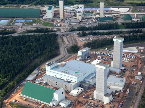 Vue aérienne de la mine de potasse Picadilly