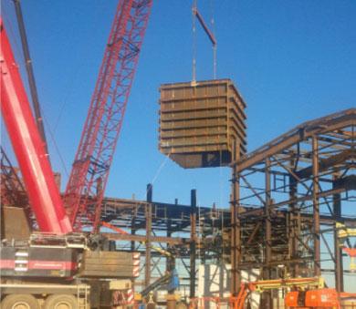 Photo du projet d'installation du Superpot