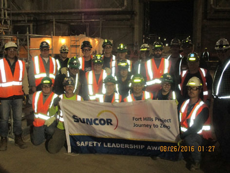 Lorneville Team Receiving Suncor Safety Award